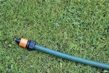 A hose stored in a straight line is less likely to kink.
