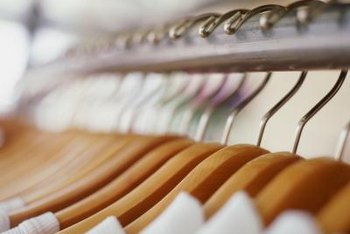 Paint the new clothes rack with metallic paint to make it shine.