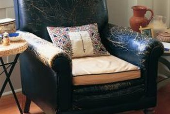 Restore a much-loved leather chair with deglazer and dye.