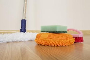 All of the ingredients you need to keep unpainted wood floors clean and shiny are edible.
