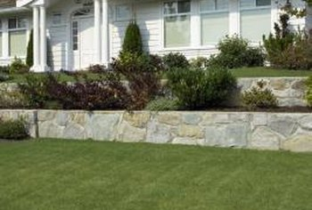 Retaining walls add accents to most any landscape.