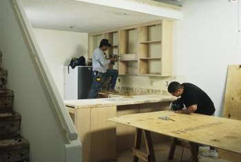 Build some economical doors for particle board shelving.