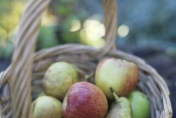 Pears and apples can be grown together in the home orchard.