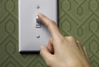You can check behind the cover plate to see if a switch or circuit is working.