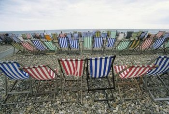 Canvas deck chair fabric makes long-lasting outdoor cushions.
