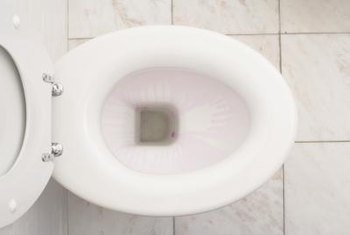 One symptom of poor venting is a low water level in the toilet.