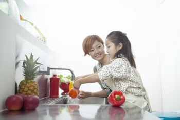 Cleaning fruits and vegetables is essential for health.