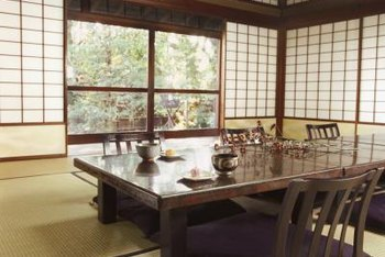 Shoji screens, neutral color pallets and low-profile furniture are typical elements of Japanese-style design.