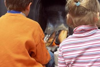 Although timeless, the raised hearth poses a threat to small children if it is unpadded.