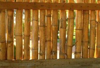 Bamboo fencing works over existing fences or a wooden frame.