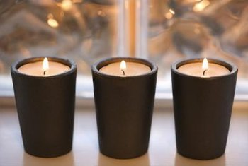 Electric candles offer a safer alternative to real candles for a window display.