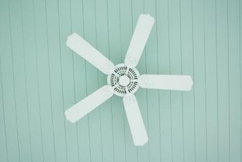 The breeze created by a ceiling fan helps your body to stay cool by increasing the rate at which moisture evaporates from your skin.