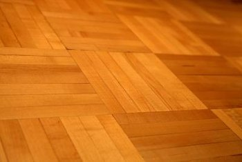 A varnished and well-maintained parquet hardwood floor can last a lifetime.