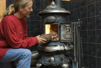 Wood-burning stoves often have a stovepipe damper to control the amount of heat allowed to go up the chimney.