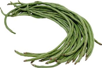 Longer beans are often found on pole or vine plants