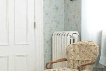 Radiators need space around them for air to circulate.