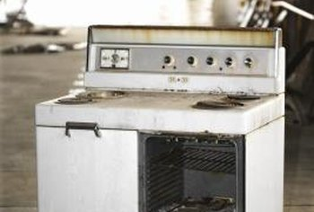 Even the self-cleaning oven needs a good manual scrubbing.