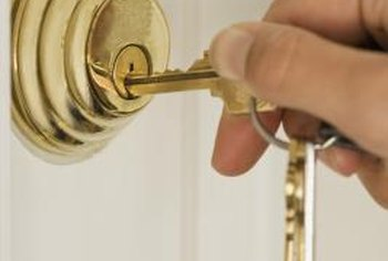 A keyed deadbolt offers more security while detering burglars.