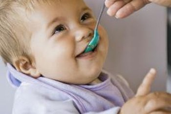 Many infants enjoy trying new foods.