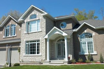 Stoneface siding can help emphasize architectural features like dormer windows and gables.