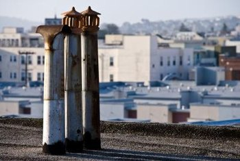 Chimneys will rust if the galvanized coating is compromised.
