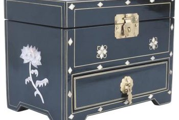 A lacquer finish makes this Asian-inspired chest shine.