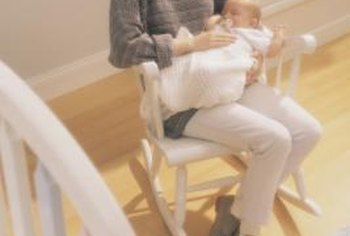 A rocking chair is useful for mom and baby.