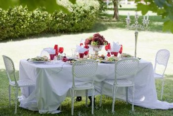 A tablecloth adds elegance to any setting.