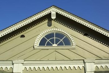 When painting your home's trim, start at the top.