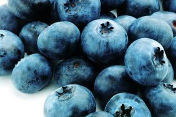 Proper spraying keeps blueberries healthy.