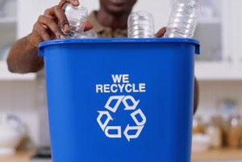 Some towns on Long Island distribute special containers for recycling plastic bottles.