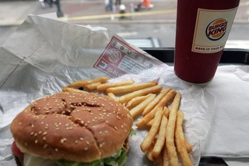 Most of the calories in a Burger King Whopper are from fat.