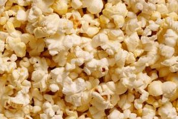 There are only 90 calories in 4 cups of air-popped yellow popcorn.