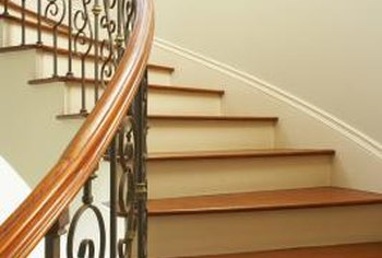 A professional-looking paint job is important in high-traffic areas such as stairwells.