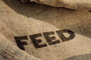 Feed sacks become simple textiles for the kitchen or dining room.