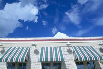 Cleaning helps restore awning color.