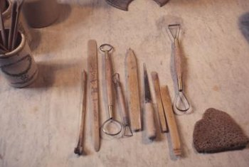 Clay artisans use a variety of clay tools to create designs in clay.