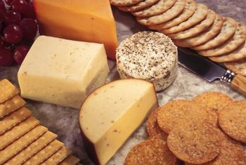 Crackers and cheese offer healthy fiber and protein, but also come loaded with fat and sodium.