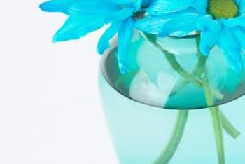 Upcycle a clear vase with a colorful tint.