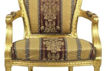 Gold leaf has been added to wood furniture for hundreds of years.