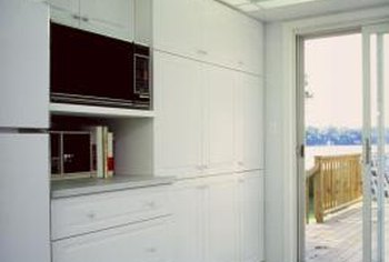 Weatherstripping reduces drafts and energy loss in sliding glass doors.