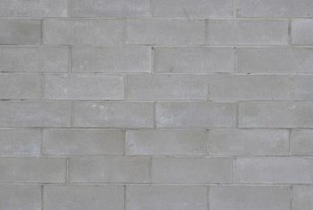 Concrete block walls are a common form of construction for basements, garages and other out buildings.