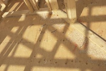 Plywood subfloor is common in frame buildings.