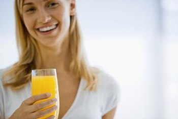 Orange juice from concentrate contains vitamins C and A.