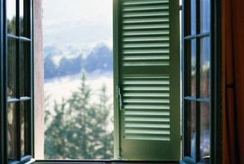 Regular cleaning and maintenance keep wood windows in good repair.