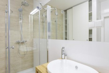 If your shower door is clean, your bathroom is clean -- almost.