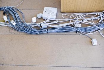 Hide unsightly wires with a wire management system.