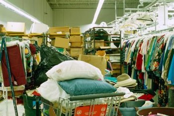 Thrift shops are a great resource for donating or buying used clothing.