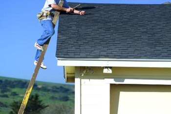 Safety is especially important when you work on the roof.