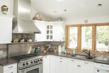A white kitchen does not have to be cold and clinical looking.